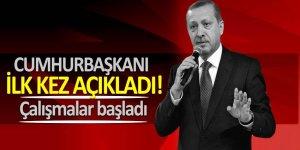 Cumhurbaşkanı Erdoğan'dan önemli açıklamalar! 'Çalışmalar başladı'