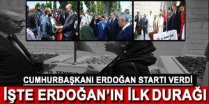 Cumhurbaşkanı Erdoğan 15 Temmuz Şehitliği'nde