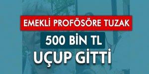 Emekli profesörü 500 bin lira dolandırdılar