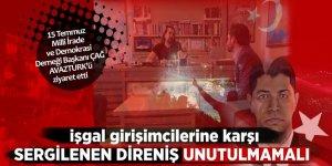15 Temmuz Milli İrade ve Demokrasi Derneği Başkanı Çağ'dan AVAZTURK'e ziyaret