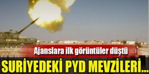 Suriye'deki PYD mevzileri vuruldu