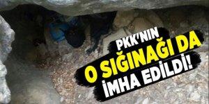 PKK'nın iki odalı sığınağına baskın yapıldı