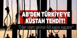 AB'den Türkiye'ye küstah tehdit!