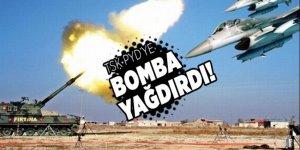 TSK  PYD'ye mevzilerine bomba yağdırdı!