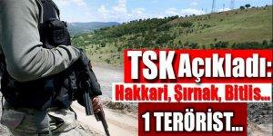 TSK açıkladı: Hakkari, Şırnak, Bitlis...