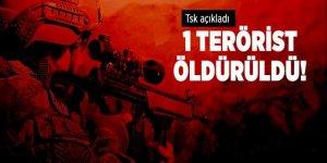 TSK açıkladı! 1 terörist öldürüldü, 1 terörist yaralandı