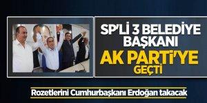 SP'li 3 belediye başkanı AK Parti'ye geçti