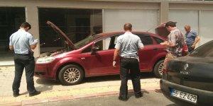 Samsun'da şüpheli otomobil polisi alarma geçirdi