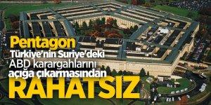 Pentagon Türkiye'nin Suriye'deki ABD karargahlarını açığa çıkarmasından rahatsız