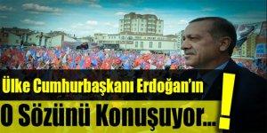 Ülke Erdoğan'ın bu sözünü konuşuyor