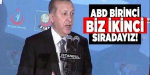 Cumhurbaşkanı Erdoğan: ABD birinci biz ikinci sıradayız!