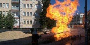 Ankara'da doğalgaz borusu patladı!