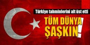 Türkiye tahminleri alt üst etti