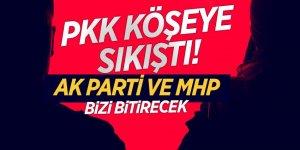 PKK köşeye sıkıştı! AK Parti ve MHP bizi bitirecek