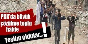 PKK'da büyük çözülme: Toplu halde teslim oldular