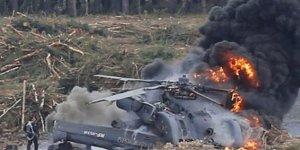 Alman askeri helikopteri düştü