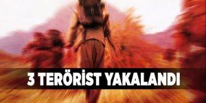 3 terörist yakalandı