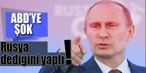 ABD'ye şok haber! Rusya dediğini yaptı
