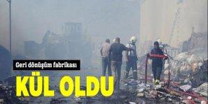 Aydın'da geri dönüşüm fabrikası kül oldu