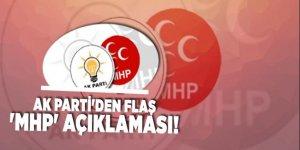 AK Parti'den flaş 'MHP' açıklaması!