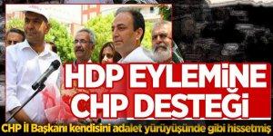 HDP eylemine 'CHP' desteği!
