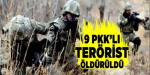 Şırnak'ta 9 PKK'lı terörist öldürüldü