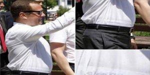 Rusya Başbakanı Medvedev'in iç çamaşarı olay oldu