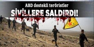 PKK'lı teröristler Azez'de sivillere saldırdı