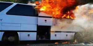 Tur otobüsünde 45 yolcu ölümden döndü