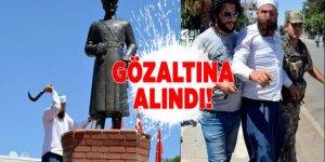 Atatürk heykeline saldıran kişi gözaltına alındı