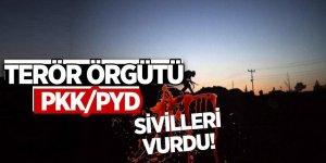 Teör örgütü PKK/PYD sivilleri vurdu!