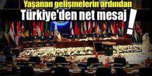 Mescid-i Aksa toplantısı! Türkiye'den net mesaj