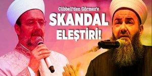 Cübbeli'den Görmez'e skandal eleştiri!