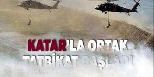Katar'la ortak tatbikat başladı