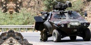 Zırhlı aracın geçişi sırasında patlama!