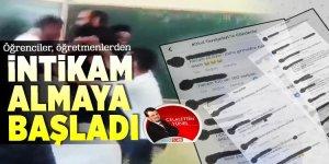 Öğrenciler skandal bir şekilde öğretmenlere not vermeye başladı