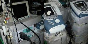 Teröristlerin kullandığı hücre evinde özel hastaneye ait tıbbi cihazlar bulundu
