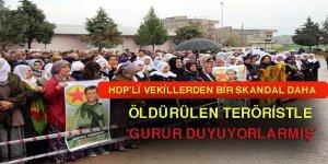 PKK'lı teröristin cenazesinde 2 HDP'li vekil