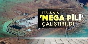 Tesla'nın 'mega pili' çalıştırıldı