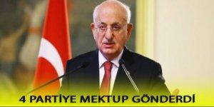 Meclis Başkanı dört siyasi parti liderine mektup gönderdi