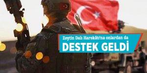 Zeytin Dalı Harekâtı'na onlardan da destek geldi