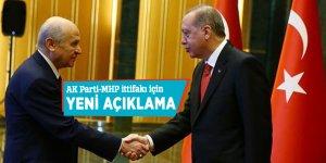 AK Parti-MHP ittifakı için yeni açıklama