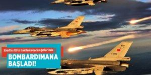 Esed'in Afrin hamlesi sonrası jetlerimiz bombardımana başladı!