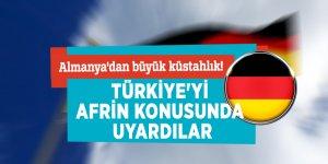 Almanya'dan büyük küstahlık! Türkiye'yi Afrin konusunda uyardılar