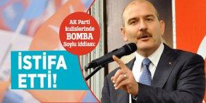 AK Parti kulislerinde bomba Soylu iddiası: İstifa etti!