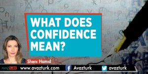 What does confıdence mean?