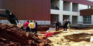 Hastane inşaatında göçük: En az iki ölü!