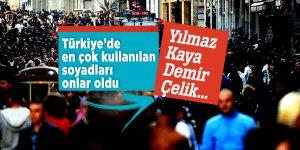 Türkiye'de en çok kullanılan soyadları: Yılmaz, Kaya, Demir, Çelik