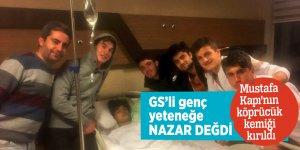 GS'li genç yeteneğenazar değdi!  Mustafa Kapı'nın köprücük kemiği kırıldı