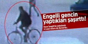 Engelli gencin yaptıkları şaşırttı! Önce İnegöl'de yakalandı 14 saat sonra da Bursa'da...